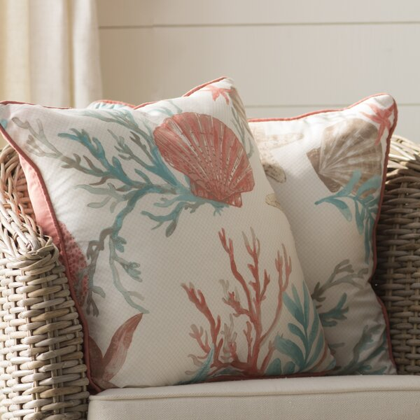 Keyport 100% Cotton Throw Pillow (Set of 2) by Beachcrest Home
